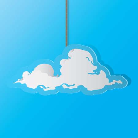 Una ilustración de la nube. Foto de archivo - 81470085