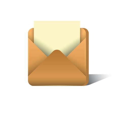 letter in envelope Ilustração
