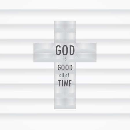 christian cross design Ilustração