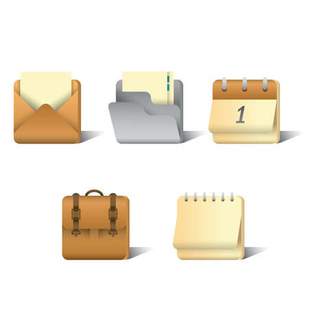set of office icons Ilustrace