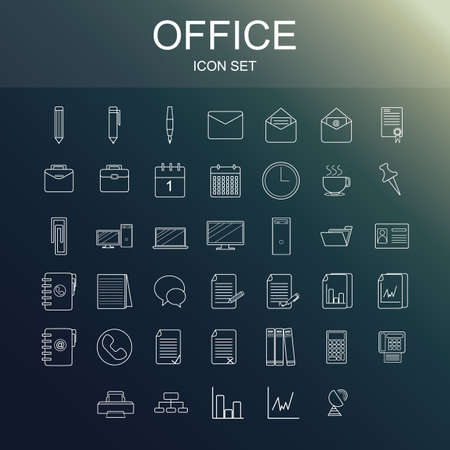office のアイコンを設定  イラスト・ベクター素材