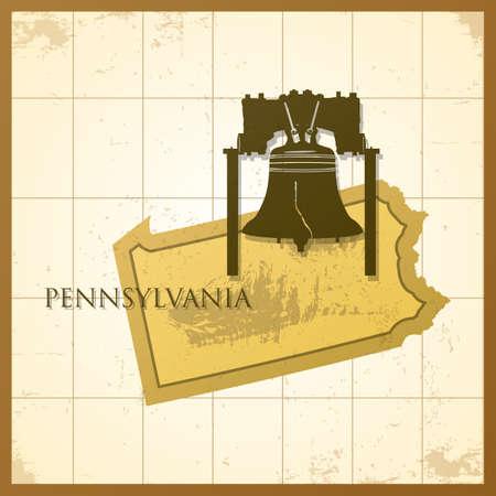 ペンシルバニア州の地図