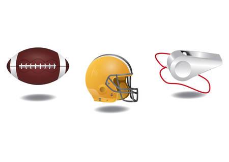 set of football icons Illustration