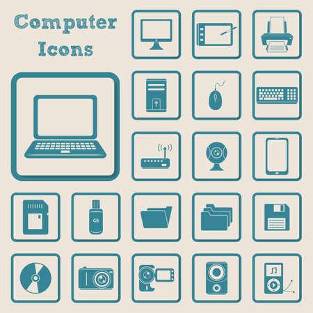 verzameling van computer pictogrammen Stock Illustratie