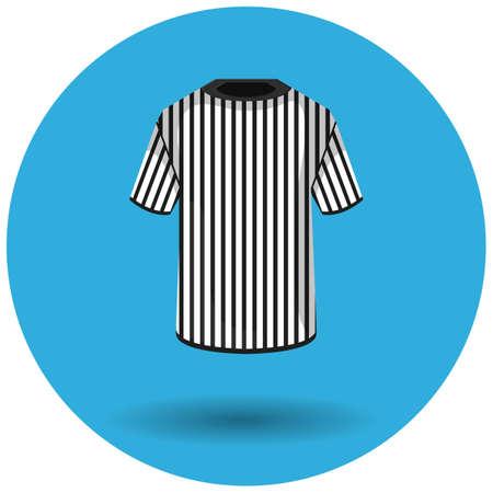 camiseta de árbitro Ilustración de vector