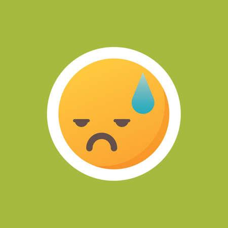 Uitgeputte emoticon