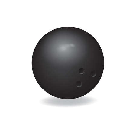 ボウリングのボールのイラスト。  イラスト・ベクター素材