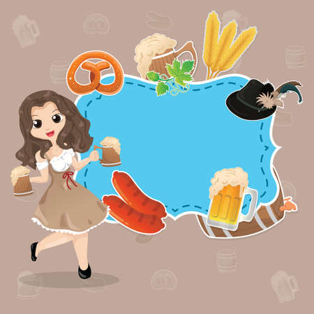 oktoberfest background design Stock Vector - 106670191