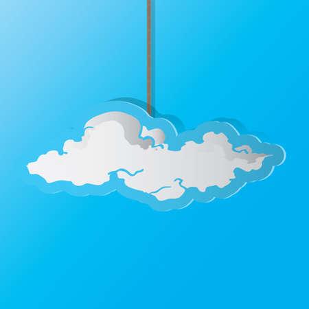 A cloud illustration. 向量圖像