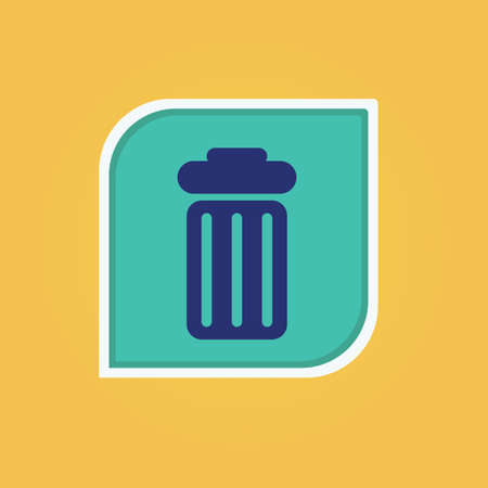 Recycle bin icon Illustration