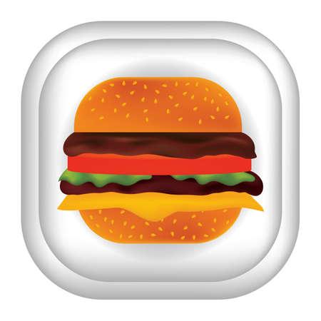 hamburguesa Ilustración de vector