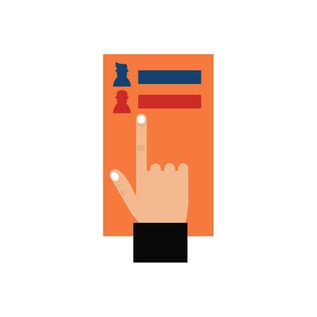 ballot paper Ilustração