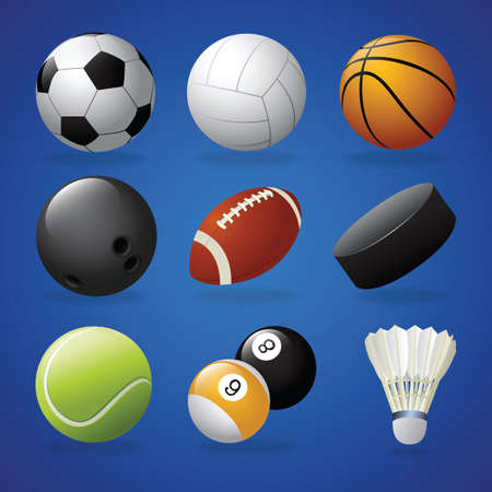 Collection of sports equipment