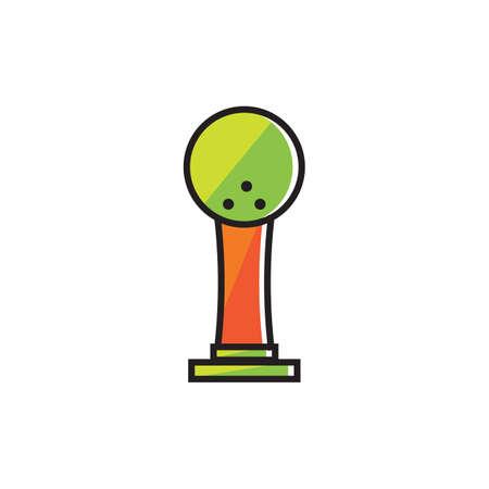 Bowling ball trophy