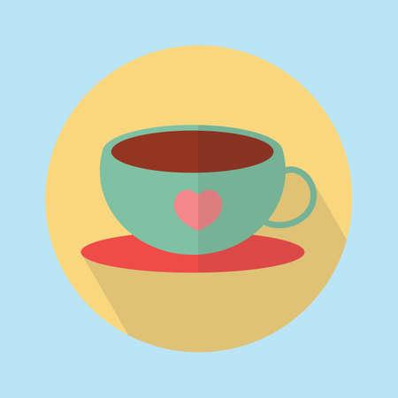 teacup with a heart Reklamní fotografie - 81420116