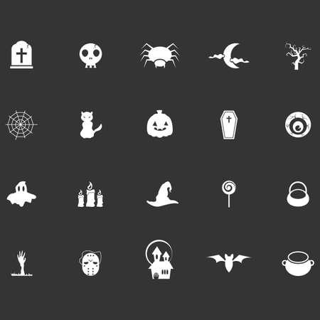 set of halloween icons Ilustração