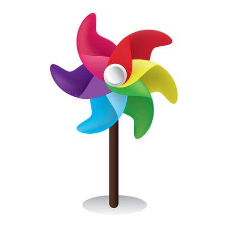 pinwheel Ilustrace