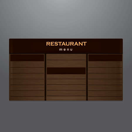 restaurant menu Ilustrace