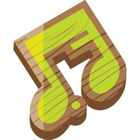dotted quaver semiquaver Ilustração