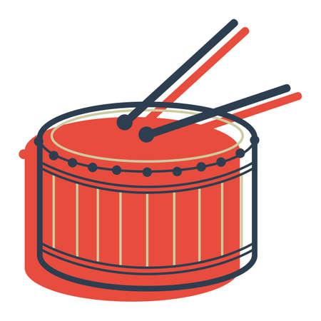 tambor Ilustración de vector