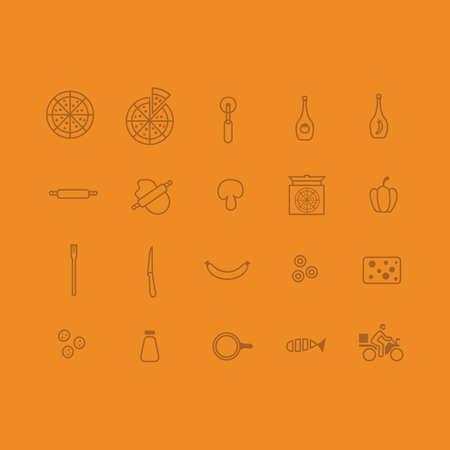 Pizza icons Illustration