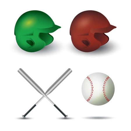 A baseball equipment illustration.