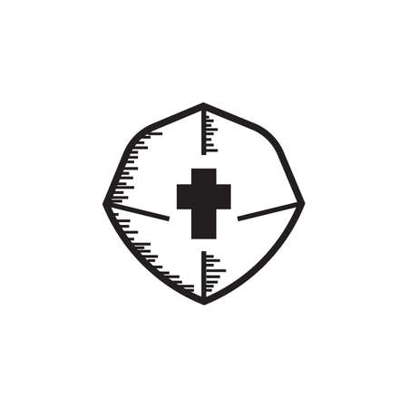 An isolated shield icon. Illusztráció