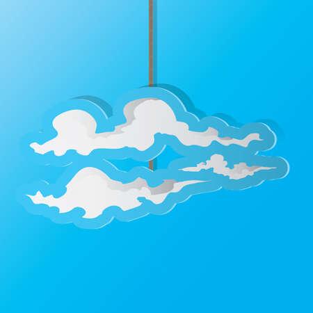 Una ilustración de la nube. Foto de archivo - 81470170