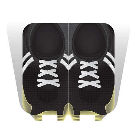 Een illustratie van voetbalschoenen.