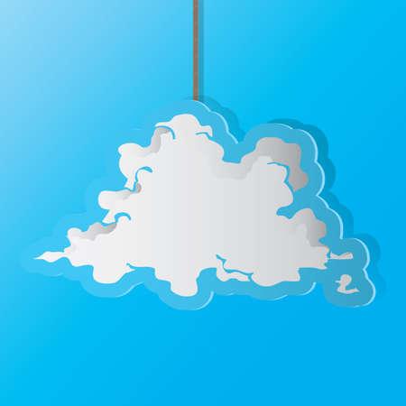 Una ilustración de la nube. Foto de archivo - 81470172
