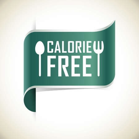calories free label Standard-Bild - 106670250