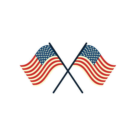 usa flag Ilustração