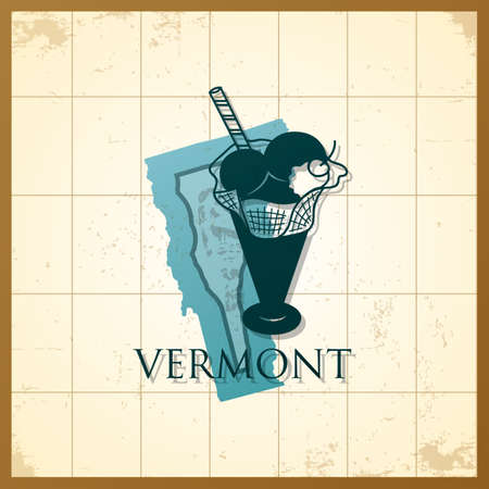 A map of Vermonts state.
