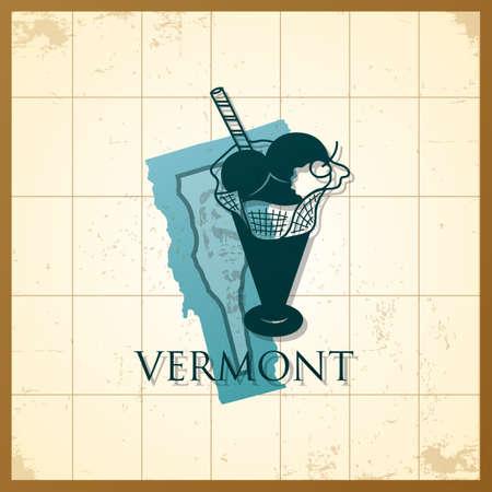 Une carte de l'état du Vermont. Banque d'images - 81535934