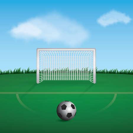 Terrain de football Banque d'images - 81470181