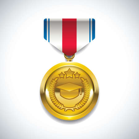A medal icon, isolated. Ilustracja