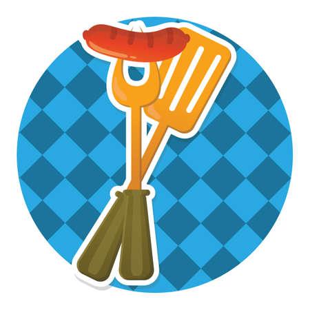 saucisse et spatule Vecteurs