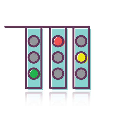 verkeerslichten Stock Illustratie