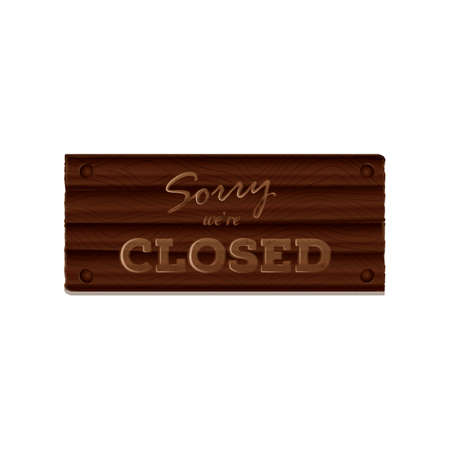 sorry we are closed board Ilustrace
