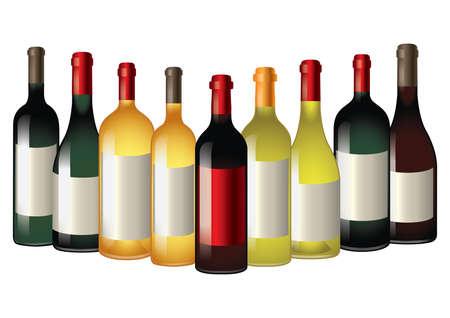 Wine bottles Banco de Imagens - 81536534
