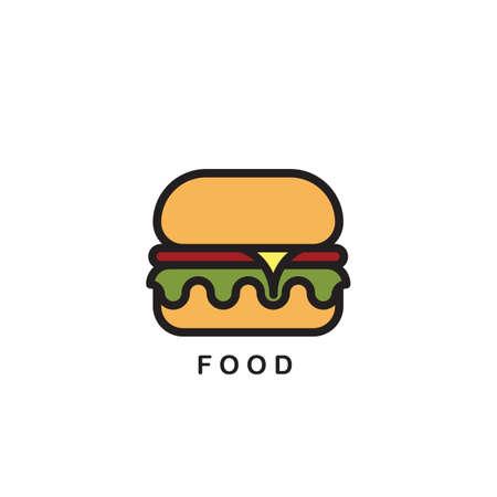 ハンバーガー アイコン、ロゴ。  イラスト・ベクター素材