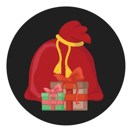 santa claus bag Illustration