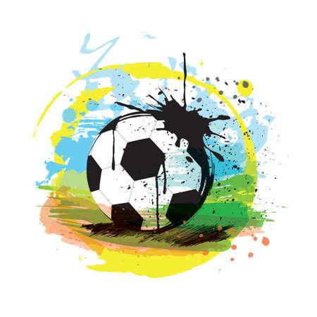 Illustrazione di calcio astratta Archivio Fotografico - 81470199