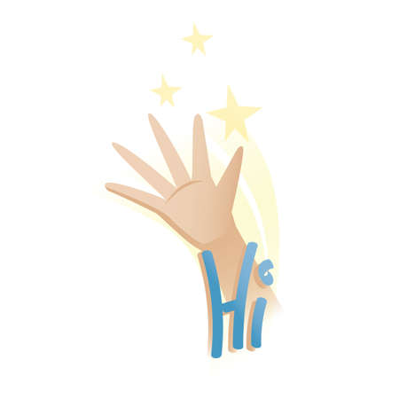 hand showing hi gesture