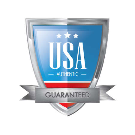 authentic usa banner Ilustrace