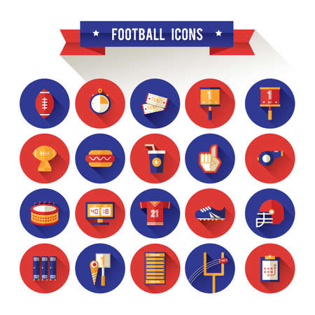 set of football icons Illustration