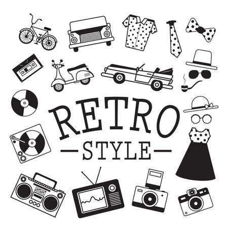A retro style illustration.