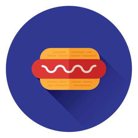 hot dog Stock Illustratie