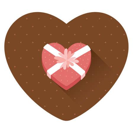 heart shaped gift Ilustração