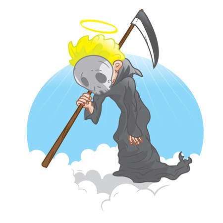 grim reaper with scythe
